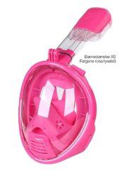 Snorkelmaske barnestørrelse rosa