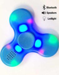 Fidget spinner med bluetooth og ledlys i blå farge