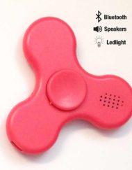 Fidget spinner med bluetooth og ledlys i rosa farge